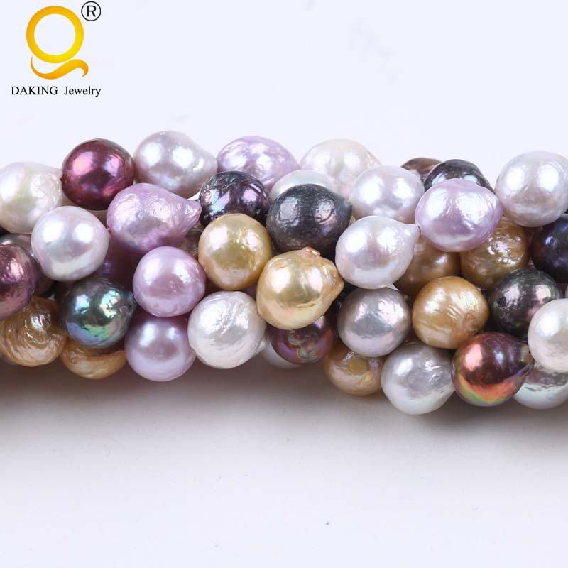 AA 11-12mm Baroque Shape Keshi Dyed Color Cultured FreeForm Freshwater Pearl Loose Beads Strand 16 16 inches 30 40mm aaa natural lavender fireball baroque pearl loose strand