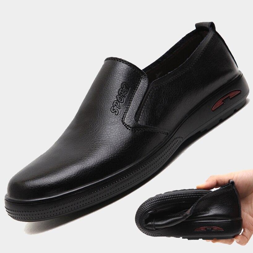 De Chaussures 47 Sur Taille En Casual Britannique 45 On Mou 46 Cuir Glissement up Slip Noir Véritable Monstceler Grande Plus Appartements lace Fond Hommes 4FqxE
