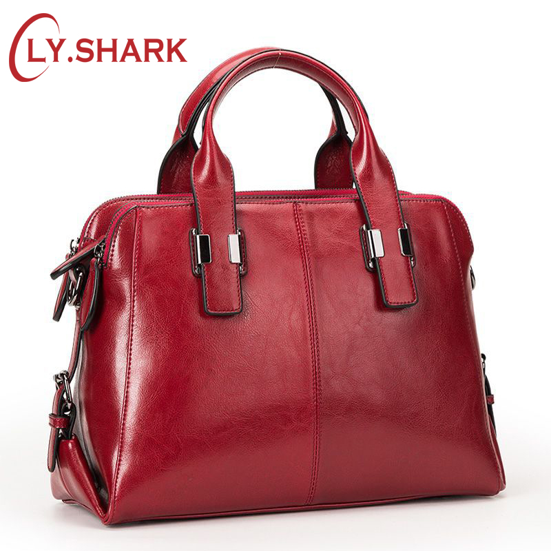 LY.SHARK Female bag women genuine leather bag for women shoulder bag famous brand woman handbags 2019 handbag ladies red blackLY.SHARK Female bag women genuine leather bag for women shoulder bag famous brand woman handbags 2019 handbag ladies red black