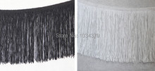 2 kleuren 20 cm breedte polyester 13 yards latin dance apparel thin line fringe lace versieringen rayon diy manual accessoires(China)