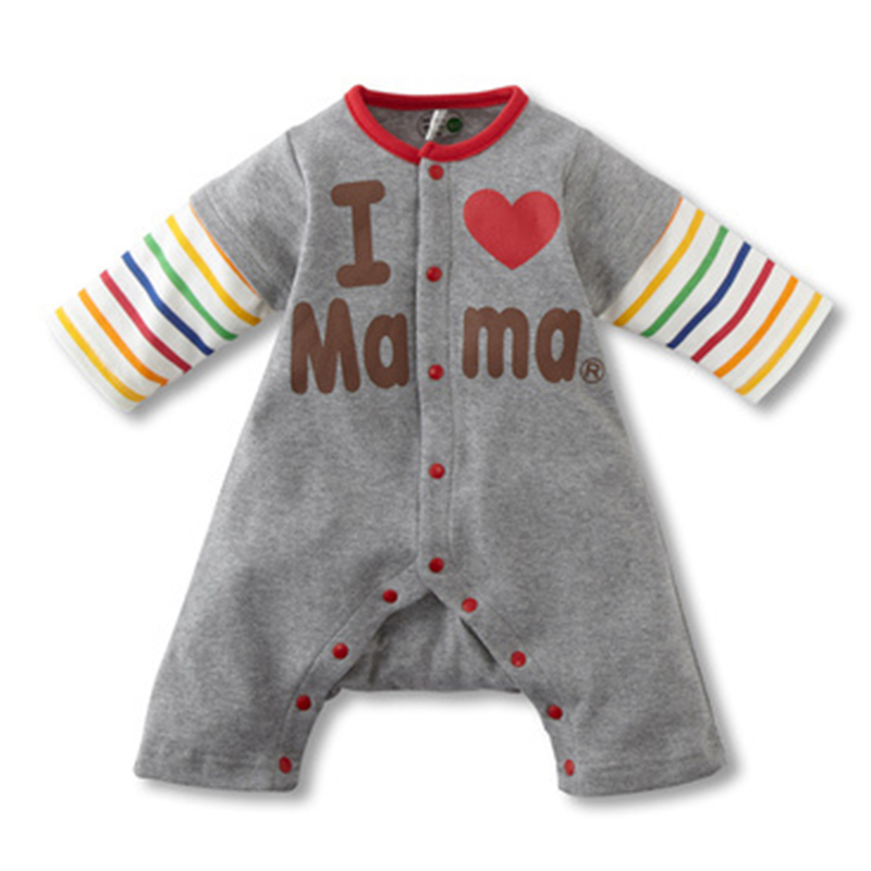 Nye Rompers Babypiger Sæt Nyfødte Baby Vintertykkere Bomuldrompere Elsker Mam & Dad Rompers 1 stk Jumpsuits Gratis forsendelse HB024-1