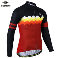 SIILENYOND Gannon 100 Polyester Men S Cycling Jersey Long Sleeve Maillot Ropa Ciclismo Bicycle Clothing Quick