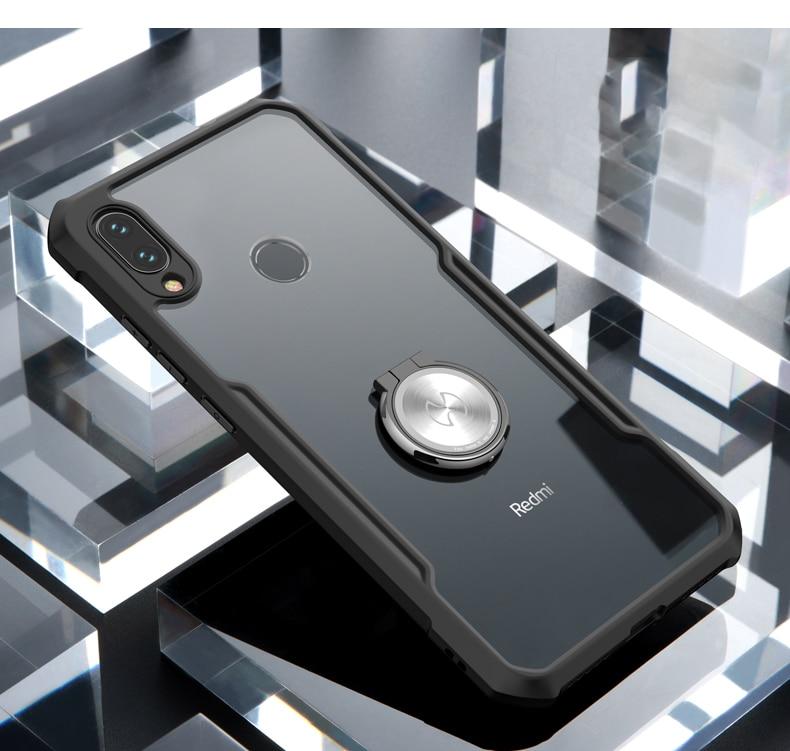 HTB1wKz1e.GF3KVjSZFmq6zqPXXaL For Xiaomi Redmi Note 7 7 cc9 Pro Transparent Acrylic+TPU XUNDD Phone case for xiaomi K20 Pro Mi 9T Pro Ring Protective cover