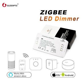 GLEDOPTO ZIGBEE zll link pasek światła sterownik ściemniacza inteligentne app sterowania kompatybilny z zigbee3.0 pracy z amazon echo plus