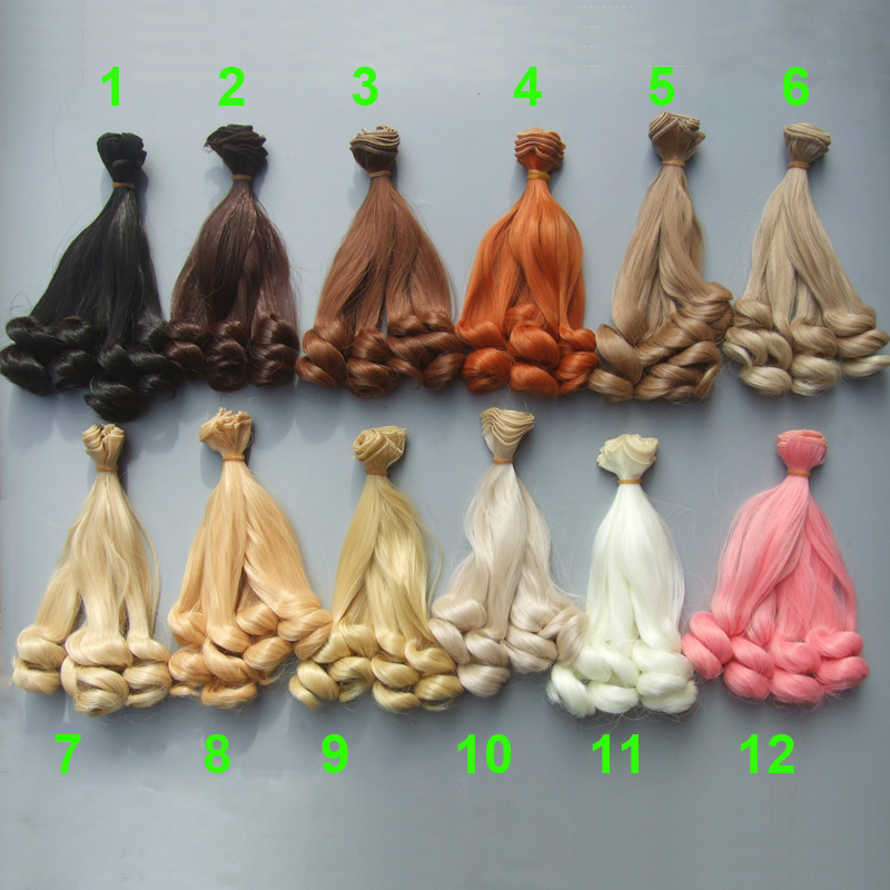 20cm handmade wavy doll wigs /SD AD 1/3 1/4 1/6 bjd doll diy Hair for blyth BJD doll wigs bjd sd doll wigs soom photon minifee chloe male female dolls black long wig 3 1 1 6 immediately shipped