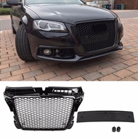 Hex Mesh Honeycomb Grill For RS3 Style Front Sport Hex Mesh Honeycomb Hood Grill Gloss Black for Audi A3 S3 8P 2009 2012