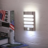 USB Rechargeable Night Light Wireless PIR Motion Sensor LED Wall Light Lamp Auto On Off For