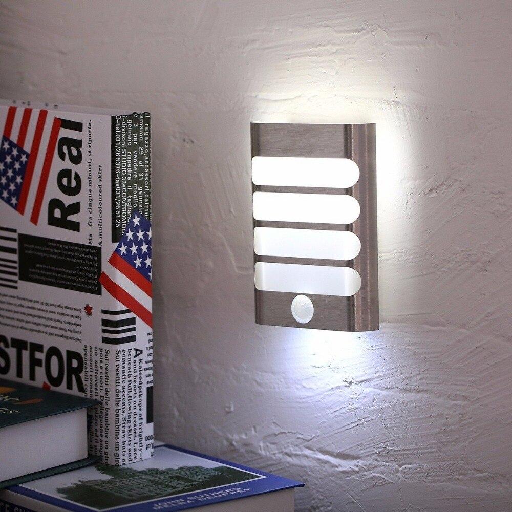 USB Recarregável Luz da Noite Do Sensor Sem Fio de PIR Sensor de Movimento luz da Parede Luz Da Lâmpada Auto On/Off Para Corredor Caminho escada