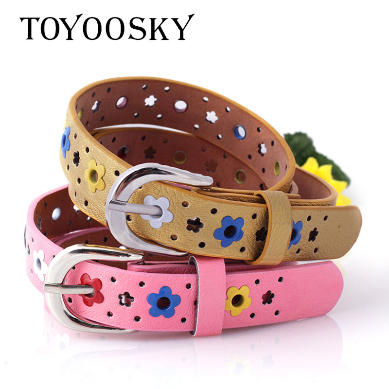 Quality PU Child Belt Fashion Leisure Designer Children's Belt of Boys And Girls Cowboy Belts Candy Colors TOYOOSKY