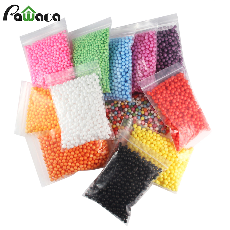 12 Bag Colorful Styrofoam Foam Balls for Slime Party Decoration Beads for Kid'S Handmade Slime Making Art DIY Crafts Home Decor