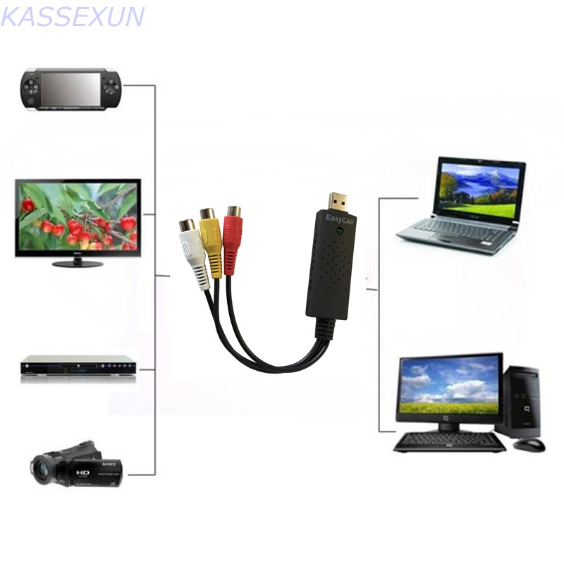 2017 New  MAC Video Capture Device , also work for  windows 7 8 10, no driver required, Free shipping maglite