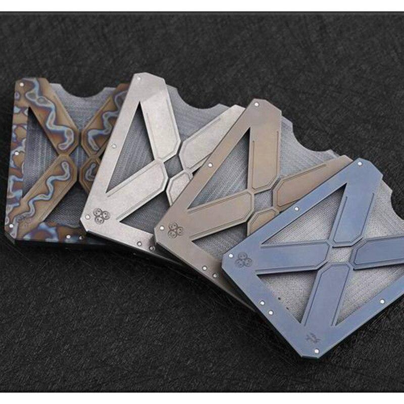 EDC Outdoor Titanium Alloy with Carbon Fiber Portable Multifunction Pocket Tools Money Card Clip EDC