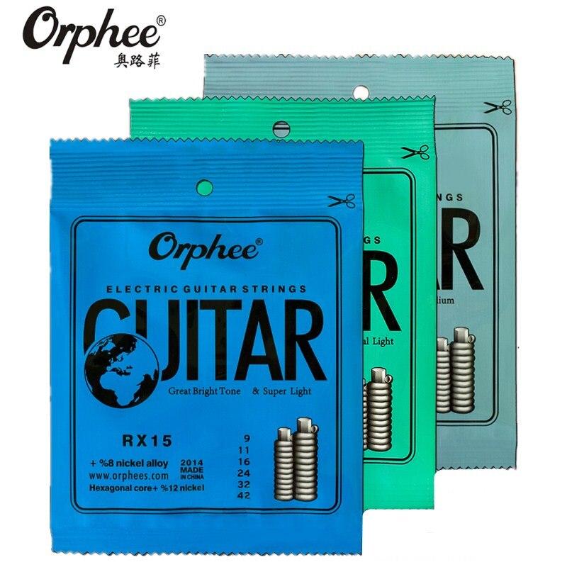 Original Orphee RX15/17/19 Electric Guitar Strings Nickel Alloy String Super Light Tension guitar Accessories 009/010/011