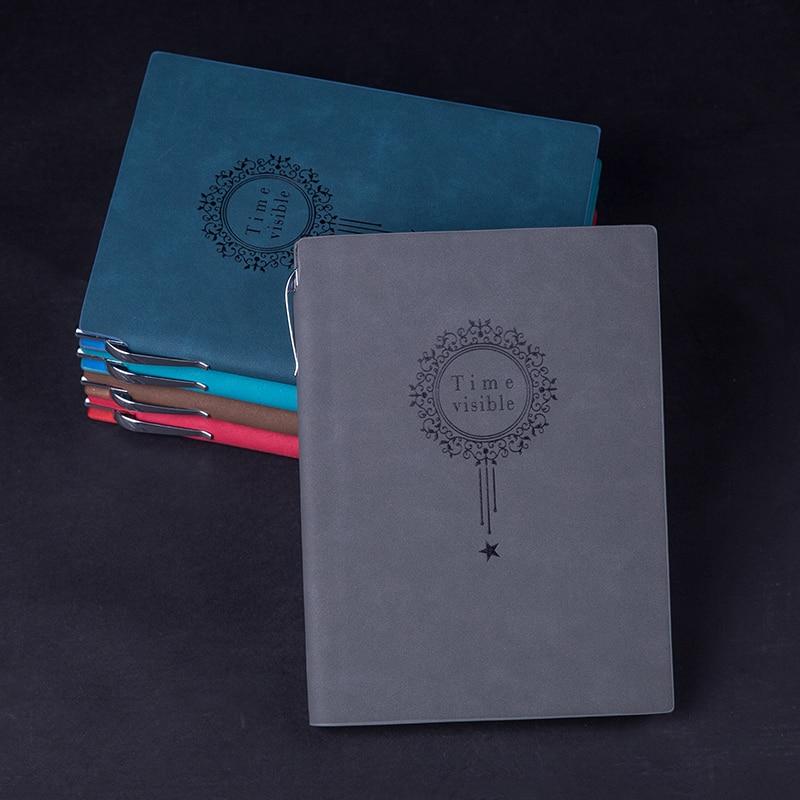 RuiZe Vintage dik notitieboekje met pen A5 lederen dagboek agenda - Notitieblokken en schrijfblokken bedrukken - Foto 2