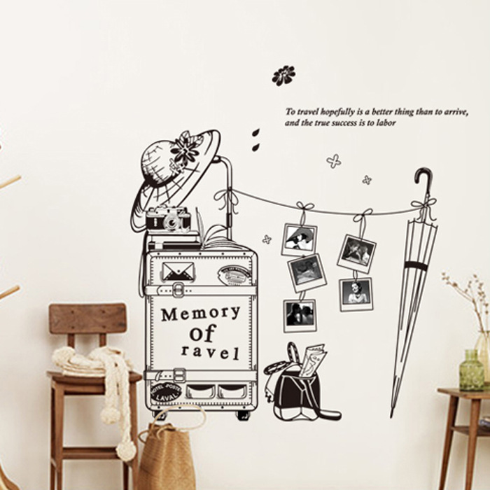 hot wall stickers home decor creative personalized wall stickers travel to wear boring clothes wallpaper decal