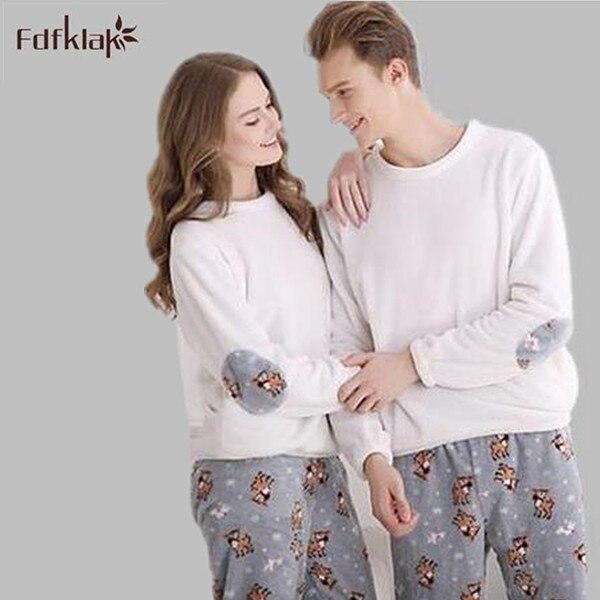 1c68715545ab6 Nouveau 2019 mignon coton pyjamas femmes automne hiver grande taille corail  polaire chaud pijamas mujer vêtements de nuit femmes accueil vêtements M-6XL