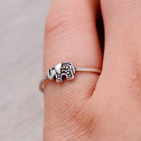 Sterling Silver Elephant Ring 3