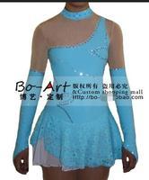 Синий Катание на коньках платья Бесплатная доставка пользовательские фигурное катание платье конкурс катание платье
