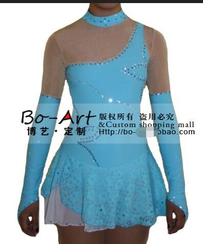 3ad829b216 blue ice skating dresses free shipping custom figure skating dress  competition skating dress