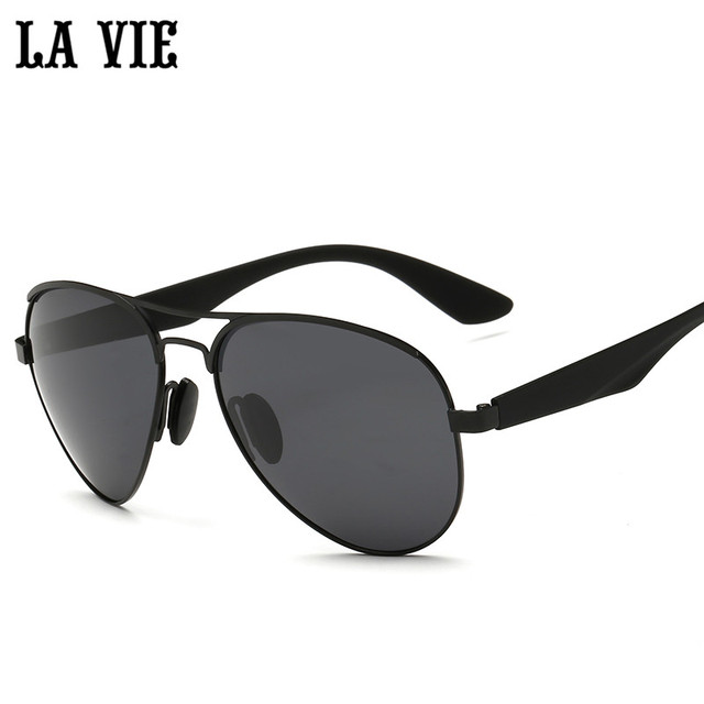 acd5034d76 LA VIE Polarized Pilot Style Men Sunglasses Fashion Alloy Frame Design  Plastic Leg Male Coating Sun Glasses LVA3523