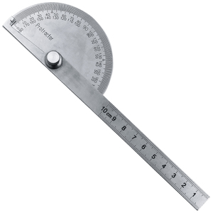 Image 5 - Goniómetro Regla de ángulo de 0 180grados, regla de cabeza redonda de acero inoxidable, regla de ángulo cuadrado para carpintería, prueba de esquina