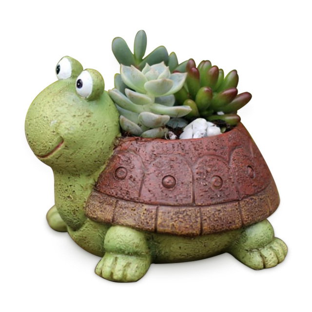 Little Turtle Succulent Plants Resin Flowerpot Art Craft Decor Bonsai Planter Pot