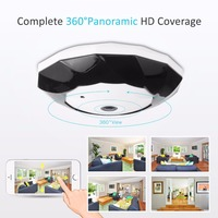 SANNCE 3 0MP Video IP Camera 360 Degree Panoramic Wifi Security Camera Two Way Audio Digital