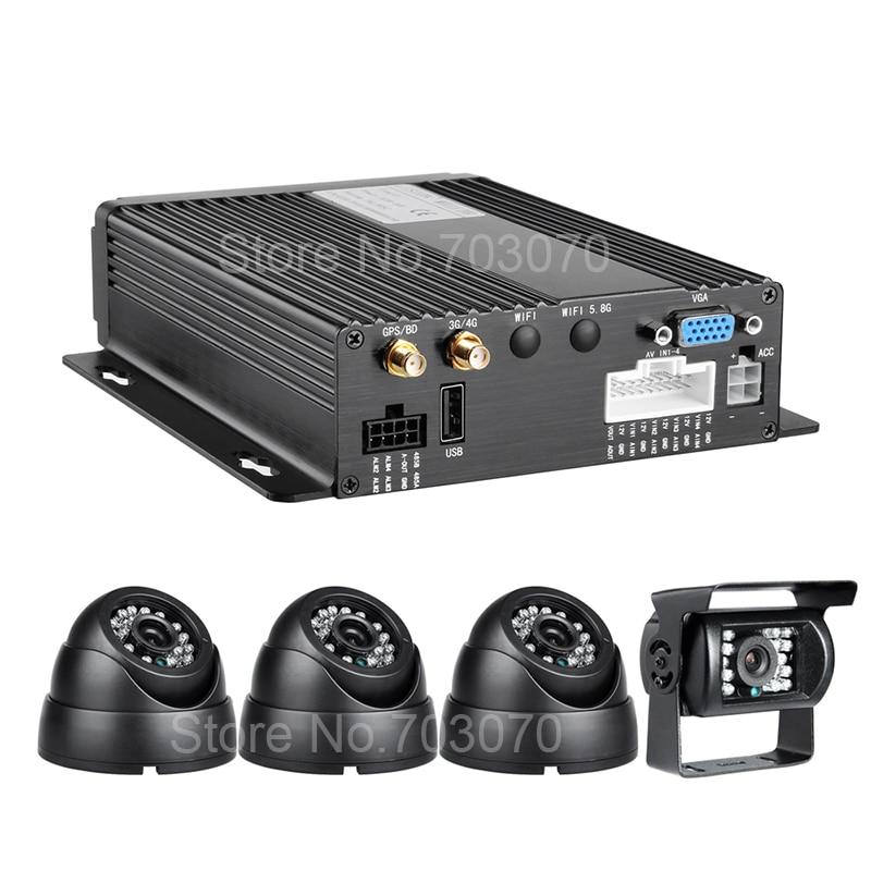 4PCS 2.0MP AHD камералары + CCTV мониторингі IOS - Автомобиль электроникасы - фото 3