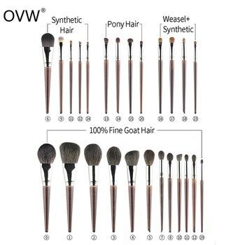 OVW Goat Hair Small Precision Pointed Shader Brush Natural Pencil Crease Goat Hair Detail Make Up Brushes Tools kist' dlya teney