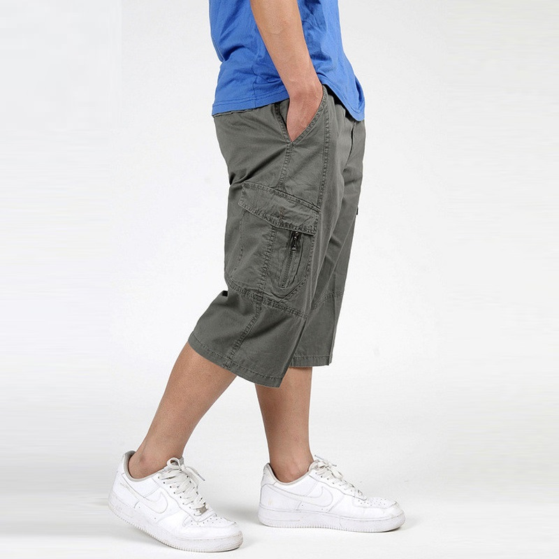 Mens Cargo Shorts Combat Brand Overall Big Large Plus Size XXXL 4XL 5XL 6XL Man Trainings Summer Army Green Shorts Male Clothing