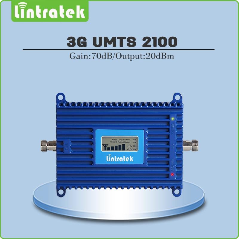 Ganancia 70db (banda LTE 1) 2100 UMTS señal móvil 3G (HSPA) WCDMA 2100 MHz repetidor de señal de teléfono Amplificadores con pantalla LCD