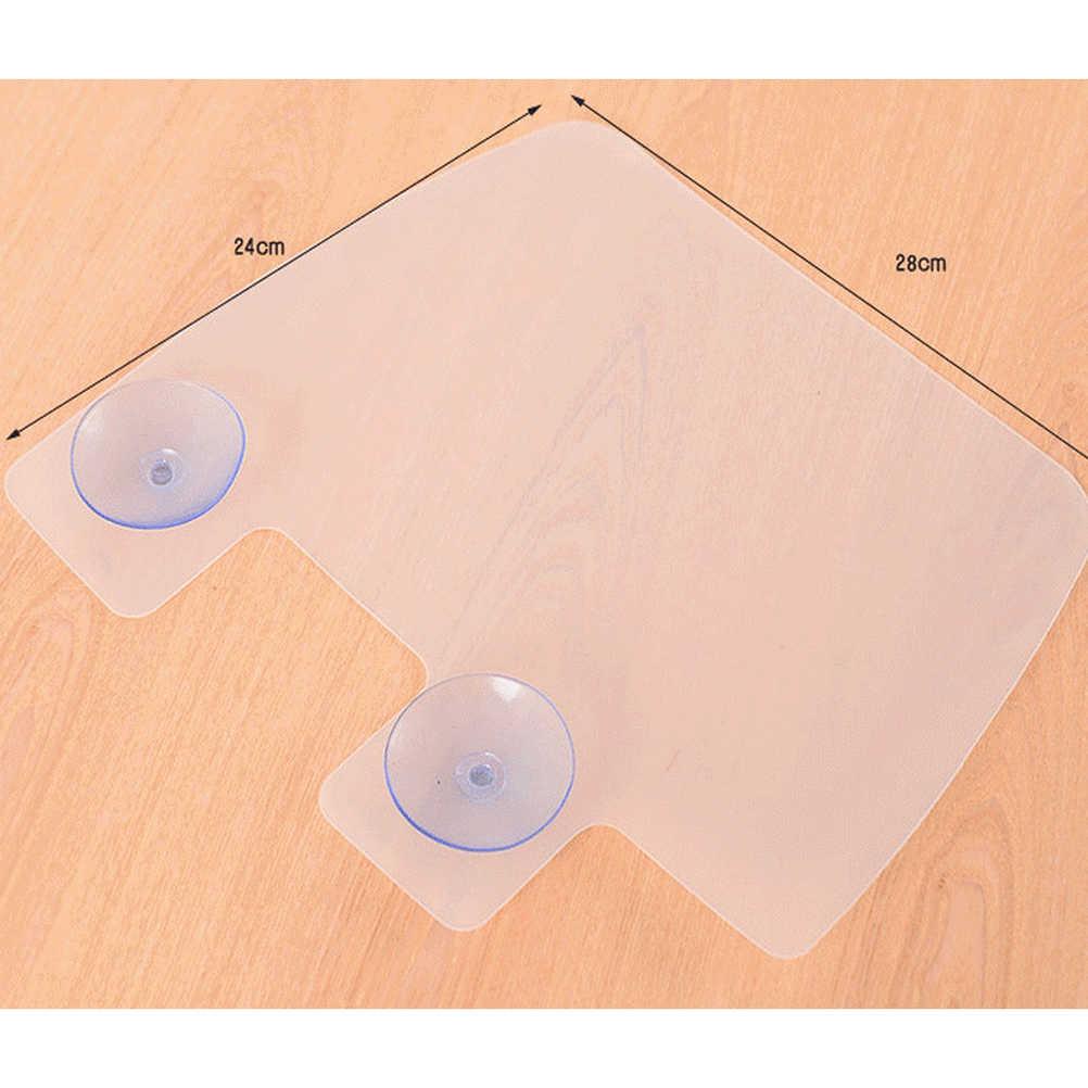 1 個キッチンオーガナイザー棚壁棚吸盤スプラッシュ水バッフルプールキッチンラック浴室シンク棚