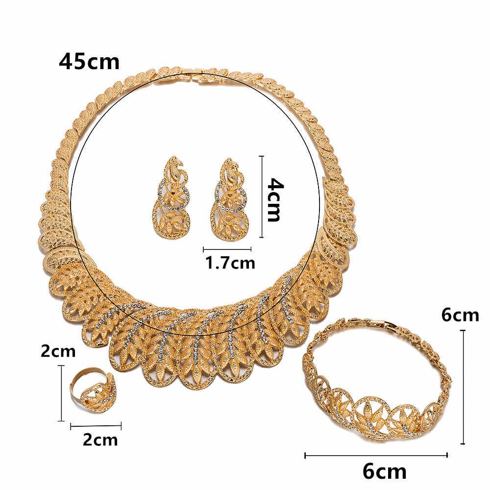 MUKUN 2019 Kristall Braut Schmuck Sets Für Frauen Nigerian Afrikanischen Perlen Schmuck Set Türkische Hochzeit Halskette und Ohrringe Set