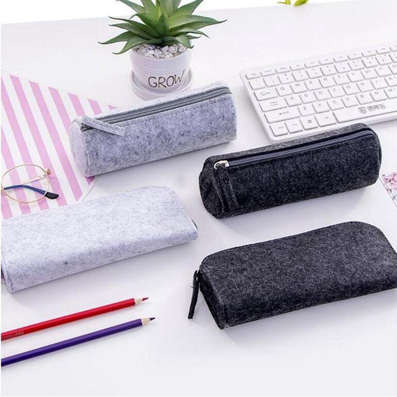 Fashion Mini Women Cosmetic Bag Simple Felt Makeup Beauty Bag Storage Handbag Portable Zipper Make Up Toiletry Case Kit