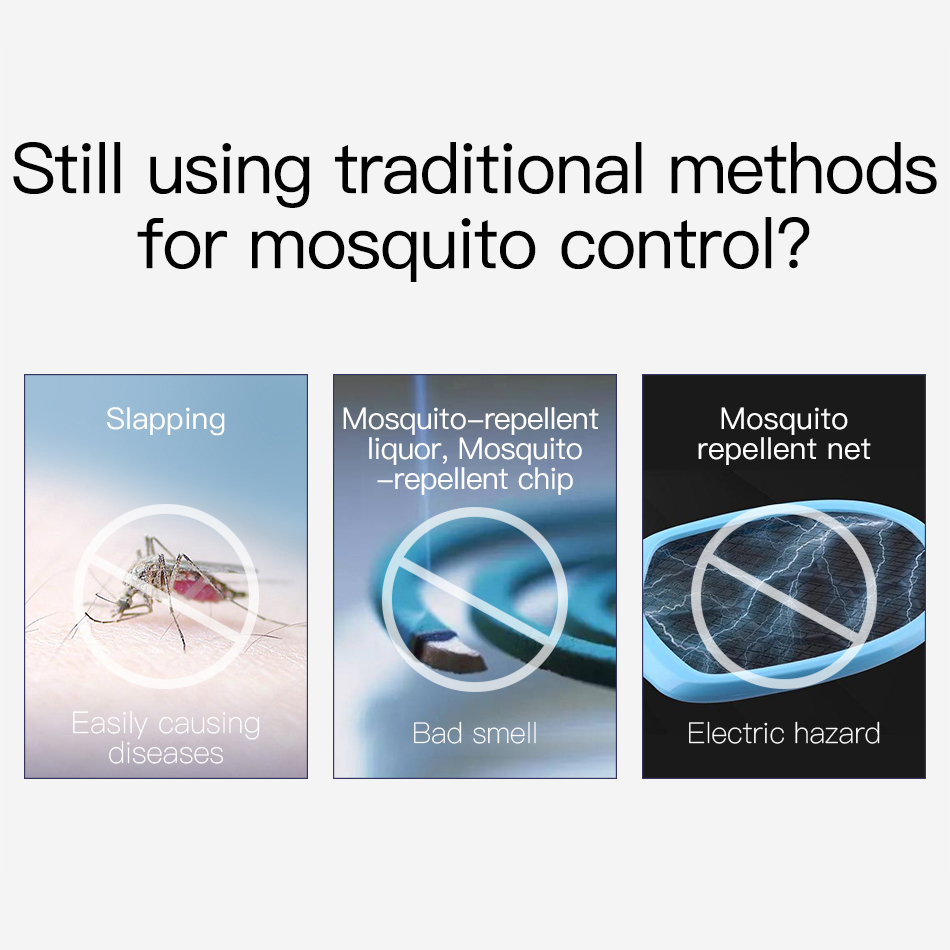 Mosquito Control LED  Lamp Electric Trap Lamp   Outdoor UV Light vs. Mosquito & Housefly  1