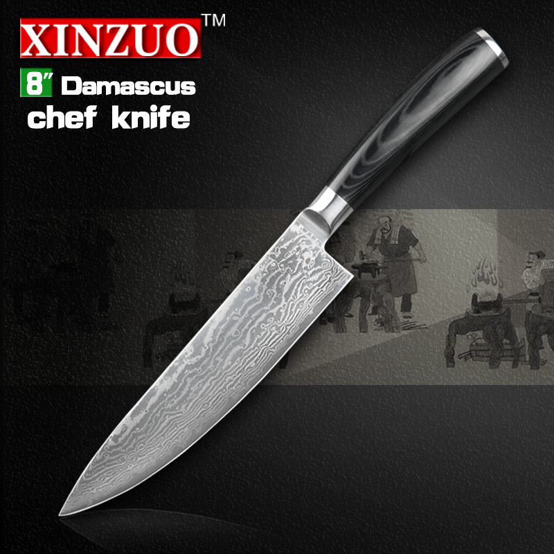 NEW 8 chef font b knife b font Japanese VG10 Damascus steel kitchen font b knives