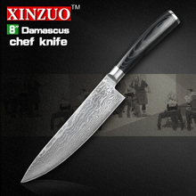 NEW 8″ chef knife Japanese VG10 Damascus steel kitchen knives Utility/Universal knife cook knife Micarta handle Free shipping