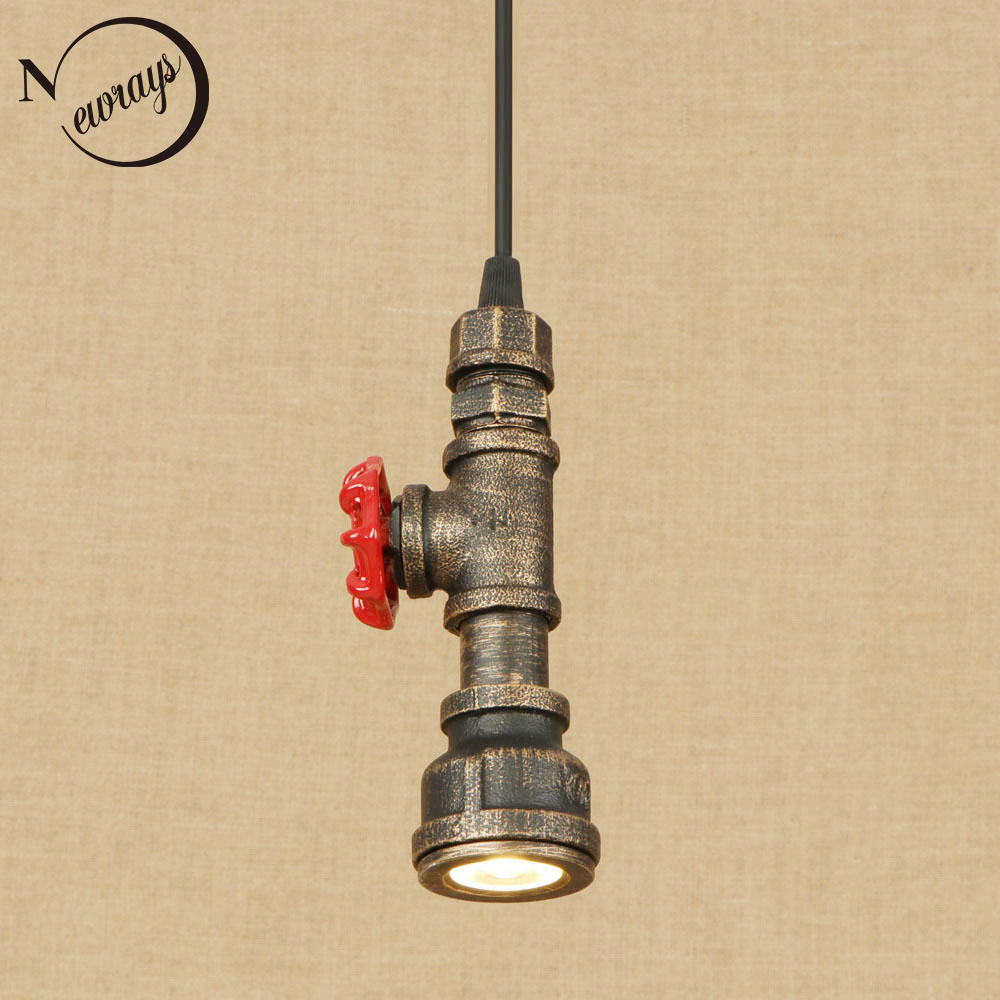 Retro industrial iron water pipe pendant light LED with 4 styles for living room/restaurant/bar/cafe/kitchen/bed room/hotel цены