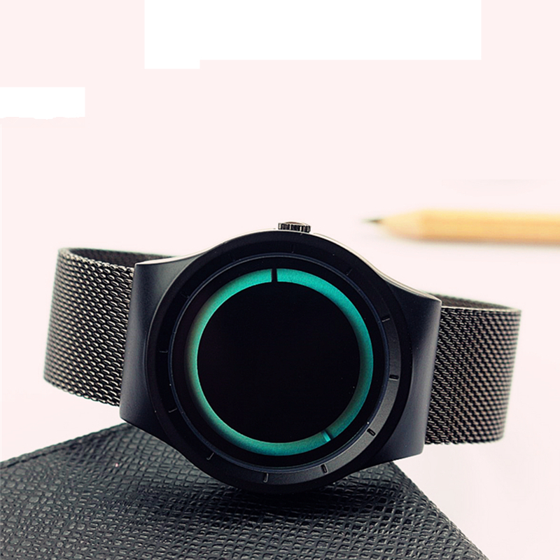 Top Selling Fashion Ladies Steel Stainless Eclipse Concept Design Sports Wristwatches For Men Waterproof Luxury Watches
