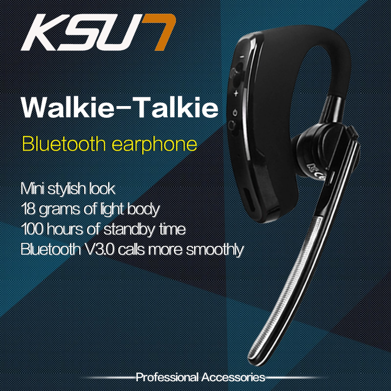 Walkie Talkie Bluetooth V3.0 Headset For Baofeng PTT Earphone Microphone Cellphone USB Charging Walkie Talkie Bluetooth Headset