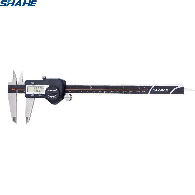 digital accurate vernier caliper micrometer paquimetro digital stainless steel vernier caliper 200 mm calliper electronic ruler