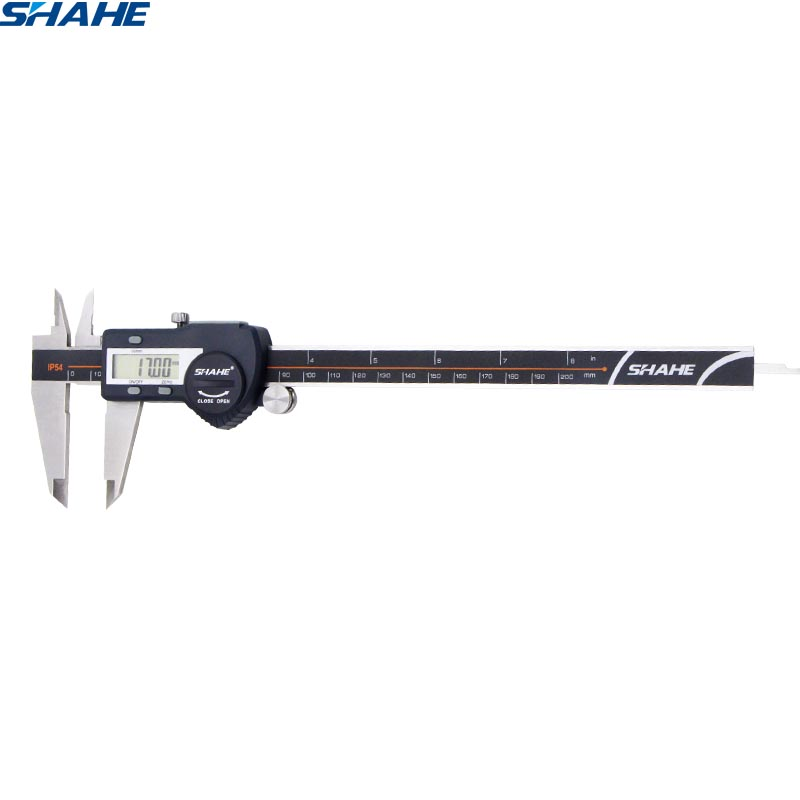 Digital preciso vernier caliper micrômetro paquimetro digital aço inoxidável vernier caliper 200 mm régua eletrônica
