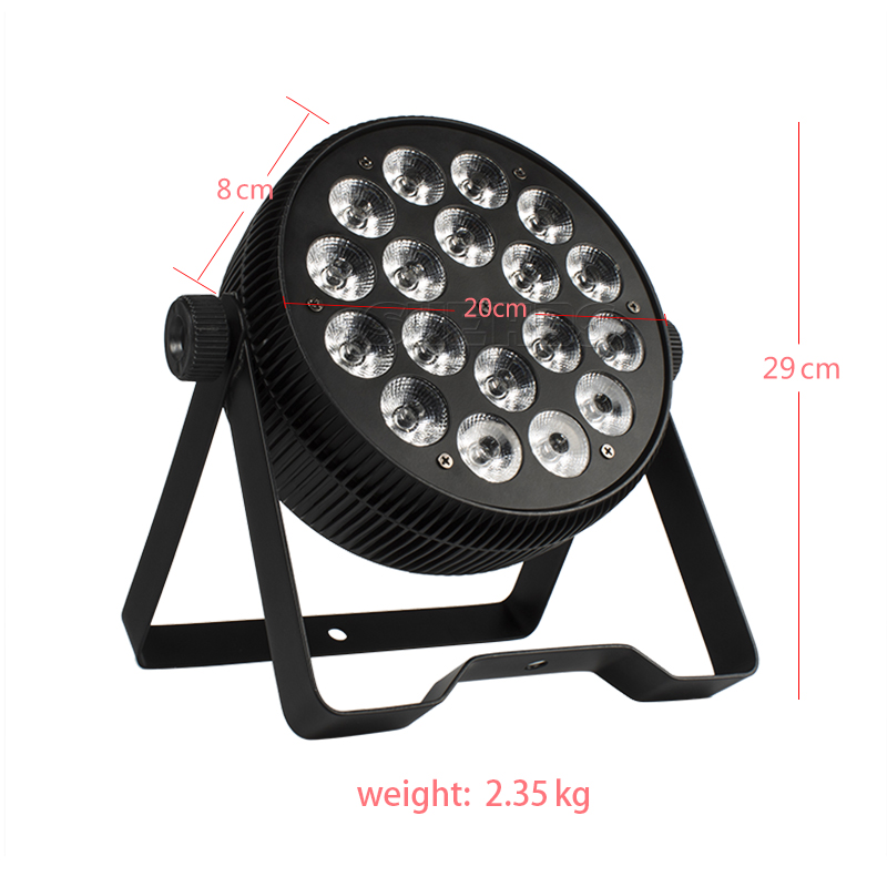 2PCS LED Par Light 18x12W DMX512 DJ LED RGB Par Light UV Wash KTV Light Party Ball Stage Lighting Sound Activated Christmas Xmas