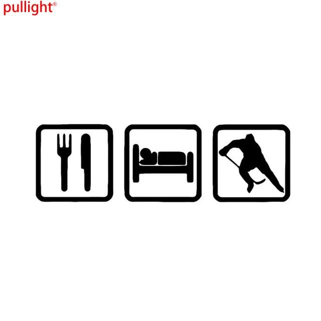 Simple Eat And Sleep Hockey Bumper Sticker Personalized Bumper Car - Custom made bumper stickers