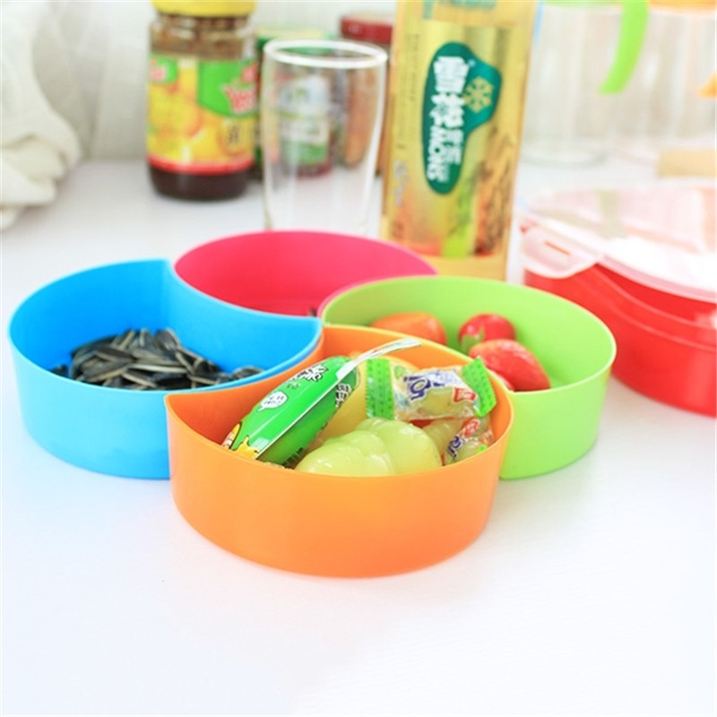Aliexpress.com  Buy Plastic Organizer Boxes Snack Food Storage Boxes Four Compartment Demountable Food Container Candy Boxes 22cmX22cm from Reliable box ... & Aliexpress.com : Buy Plastic Organizer Boxes Snack Food Storage ...