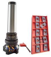 New M16 MT4 400R 63 22 Face End Mill 10pcs APMT1604 Carbide Inserts CNC Mill