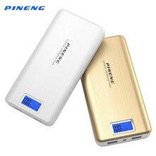 New Original Pineng Power Bank 20000mAh Li-Polymer Battery LCD Display Dual USB Portable Charger Power Bank for Smartphone PN999