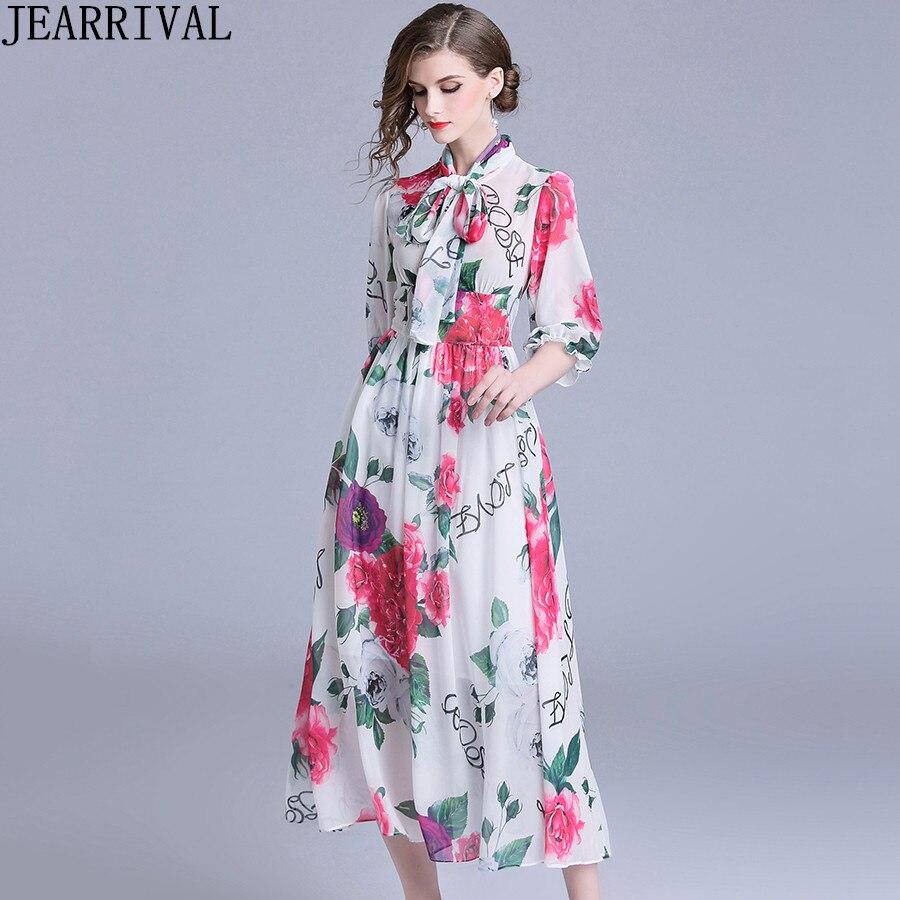 3a63764ed73b As Elegante 2018 Floreale Delle Dell abito De Vestito Sfera Lunghi Nuove  Festa Del Vintage Chiffon ...