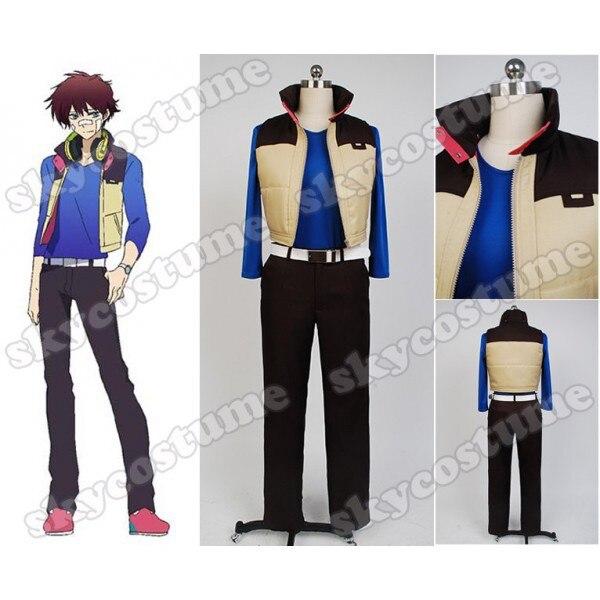 Hamatora Nice font b Shirt b font Vest Pants Belt Anime Halloween Cosplay Costume For font