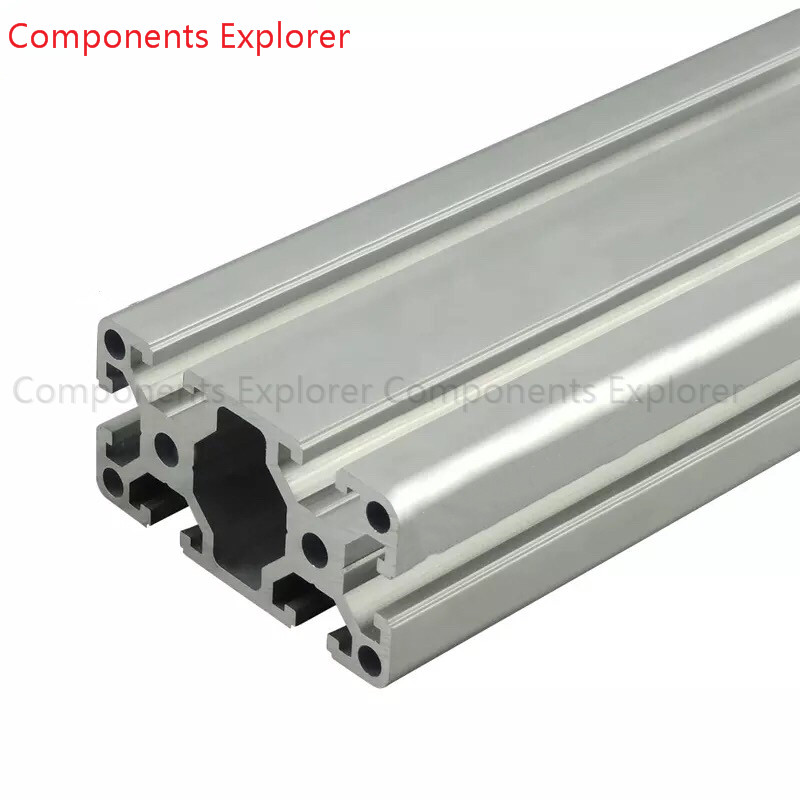 Arbitrary Cutting 1000mm 4080W Aluminum Extrusion Profile,Silvery Color.